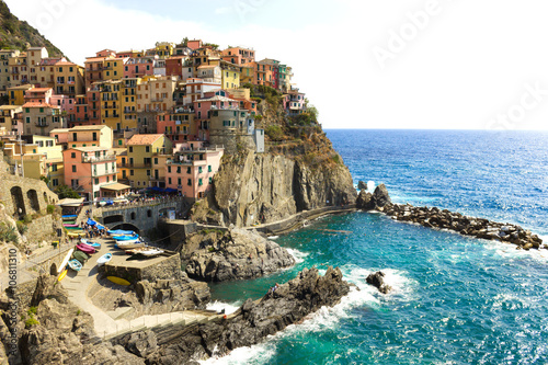 Photo  Manarola, italian old village, Cinque Terre, Liguria