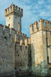 Old castle towers in Sirmione, italy