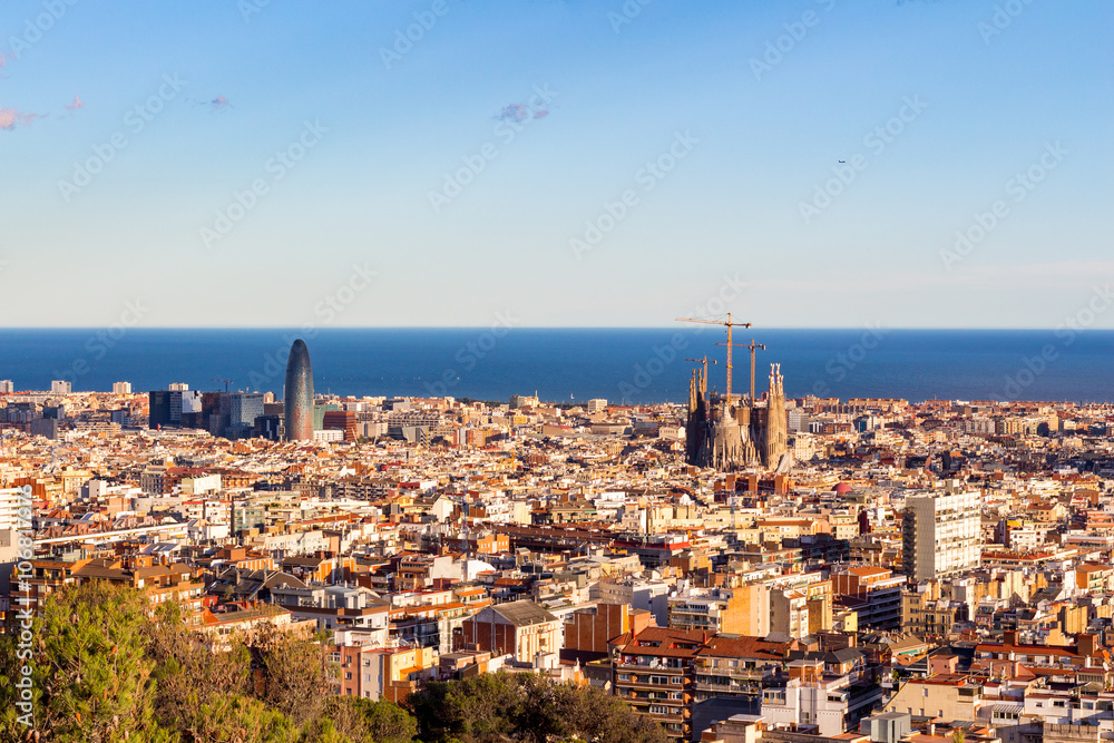 Photo Art Print Barcelona Aerial View Spain Europosters