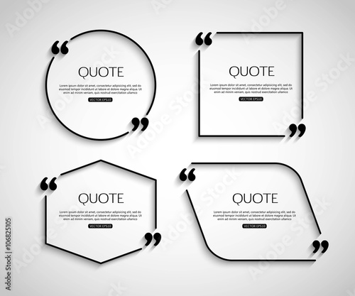 Fotografía  Set Paper Quote template for social networking, business, newspaper, magazine and advertising action