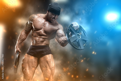 Athlete in the gym Plakat