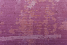 Red Brick Wall With Peeling Paint
