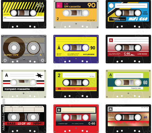 Carta da parati Vintage cassette tapes vol 2