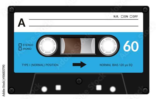 Canvas Print Vintage cassette tape