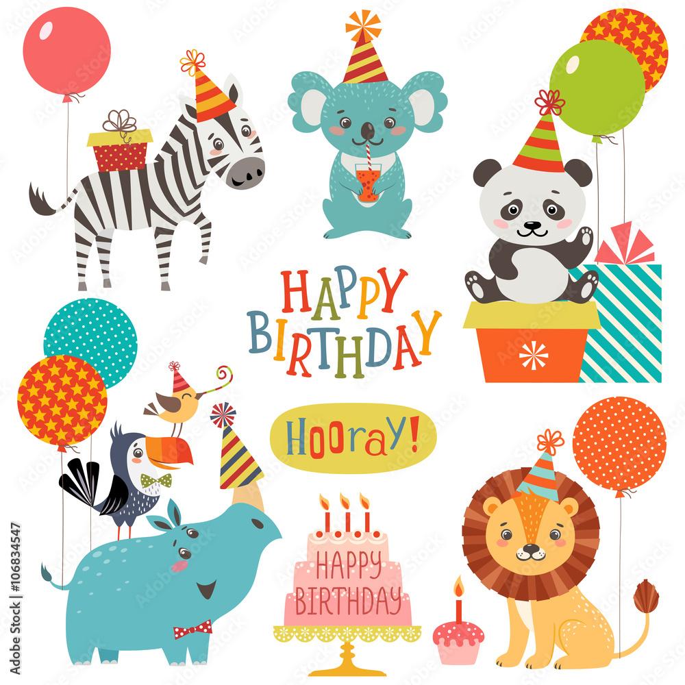 Cute Animals Birthday Wishes Foto Poster Wandbilder Bei EuroPosters