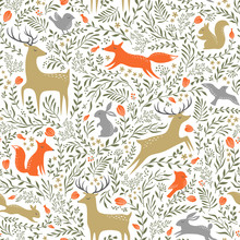 Summer Woodland Pattern