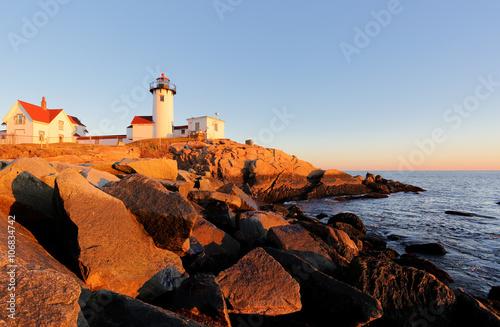 Fotografia, Obraz  Eastern Point Lighthouse at Gloucester at Sunset, Massachusetts, USA