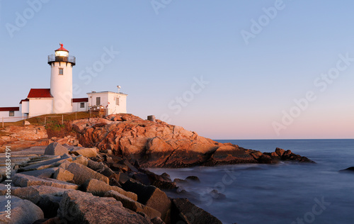 Fototapeta  Eastern Point Lighthouse at Gloucester at Sunset, Massachusetts, USA