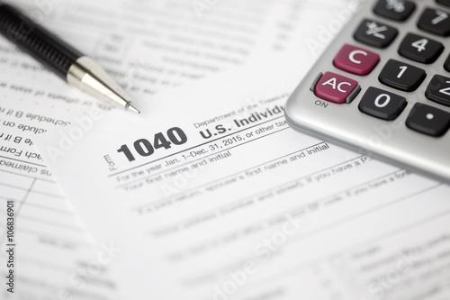 Fototapeta Tax forms background obraz