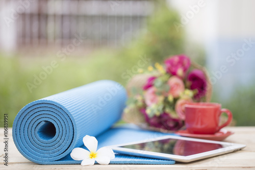 Poster Ontspanning yoga, a relaxing time and sport for health