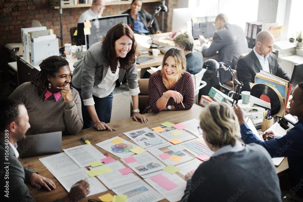 Fototapeta Coooperation Corporate Archievement Teamwork Concept