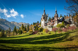 Sinaia, Romania - October 19th,2014 View of Peles castle in Sinaia, Romania, built by king Carol I of Romania. The castle is considered to be the most important historic building in Romania.