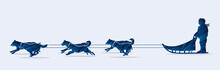 Sled Dogs Designed Using Blue ...