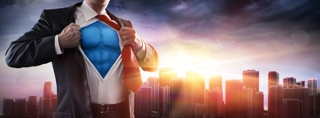 Businessman Superhero With ...