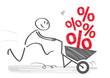 Schnäppchenjäger - Prozente und Rabatt