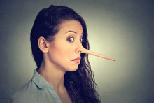 Woman With Long Nose. Liar Con...
