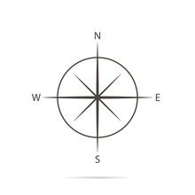 Icon Compass On White Backgrou...