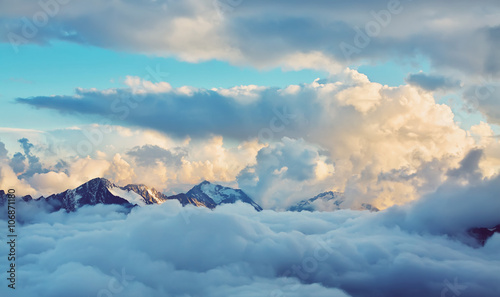 alpine mountain landscape - 106871180