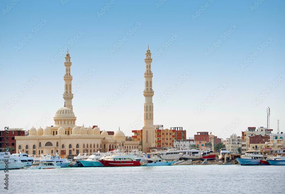Fototapeta Moschee (Aldahaar, Ägypten, Hurghada)