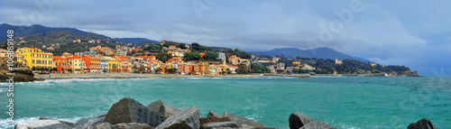 Photographie  great view of Celle Ligure in Italy
