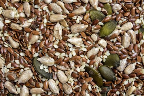 Fotografie, Obraz  Seeds mixture background