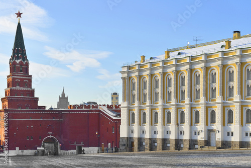 Moscow Kremlin. Borovitskaya Tower and Armoury Chamber Wallpaper Mural