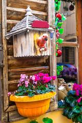 Fototapeta na wymiar garden design and charming street decoration