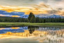 Sunset And Yellowstone