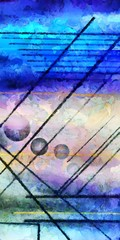 Panel Szklany Abstrakcja Abstract digital painting