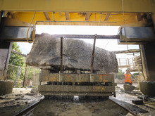 Large Rock Being Cut In Stone ...