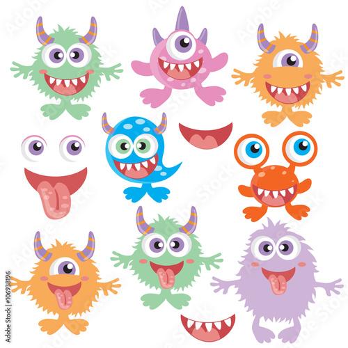 Canvas Prints Creatures Monster vector illustration