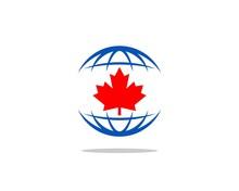Maple Leaf Globe Logo V.2
