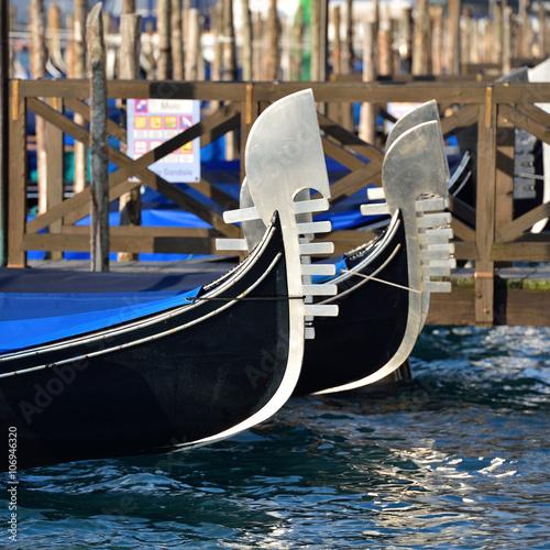 Keuken foto achterwand Gondolas Gondeln am Riva degli Schiavoni | Venedig