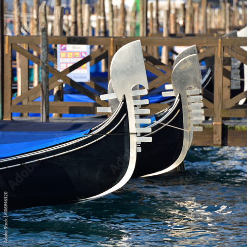Foto op Canvas Gondolas Gondeln am Riva degli Schiavoni | Venedig