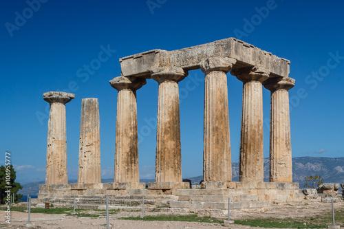Valokuva  Ruins of the ancient city of Corinth, Greece