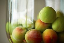 Heap Of Fresh Green Apples In Bowl