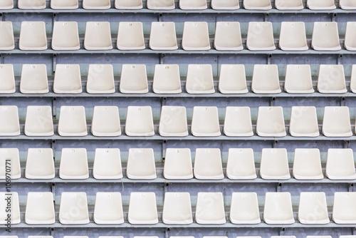 Spoed Foto op Canvas Stadion Empty tribune of the soccer stadium.