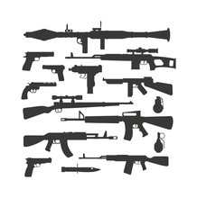 Weapon Collection Different Mi...