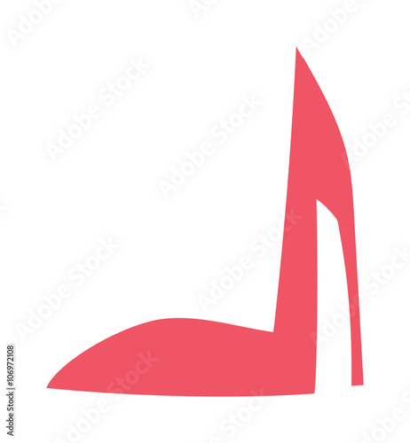 9a9246e263 High heels with inner platform sole red patent leather shoes foot accessory  flat vector.