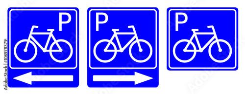 Fototapeta znak parking rowerowy obraz