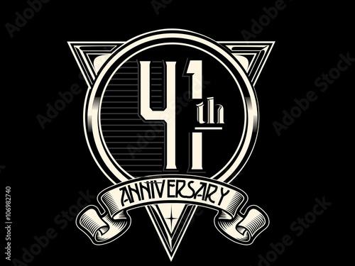 Fotografia  41 Years Anniversary Logo