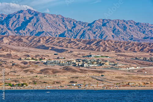 Tuinposter Kust Settlement near the coast of Red Sea