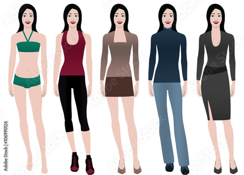 Fotografie, Obraz  fashion girls