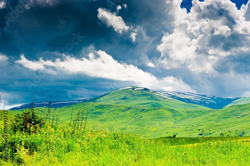 Keuken foto achterwand Lime groen Beautiful landscape of Armenia