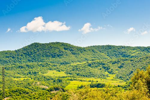 In de dag Lime groen Beautiful landscape, summer in mountains