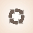 Icon Of Recycle Or Reload.