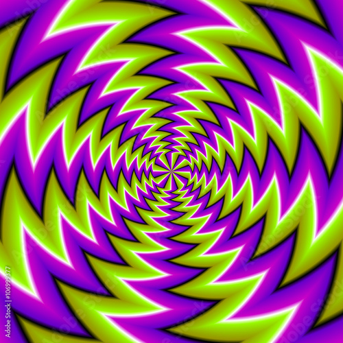 Green  background (spin illusion)