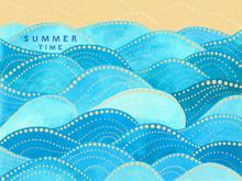 Blue Writing Summer Time On Ye...