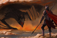 Knight And A Dragon