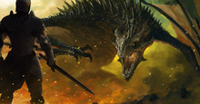 Warrior And A Dragon